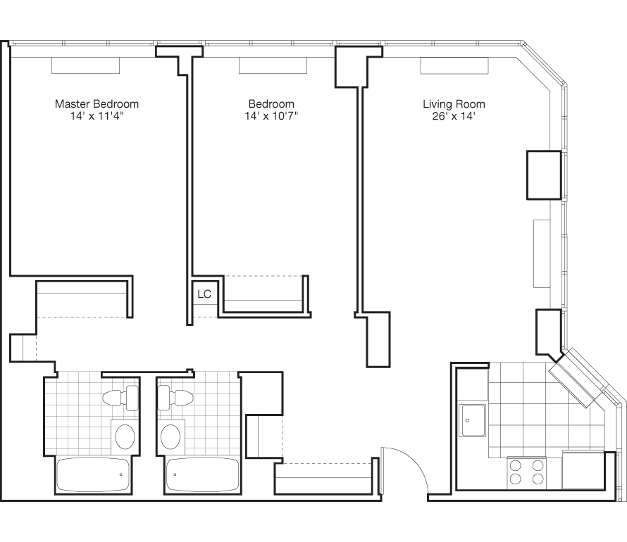luxury hell u0026 39 s kitchen apartments for rent at the victory
