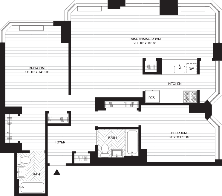 Learn more about Residence A, Floors 9-29
