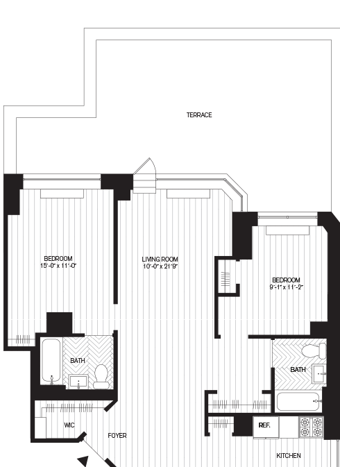 Learn more about Residence E, Floor 7 (2br)