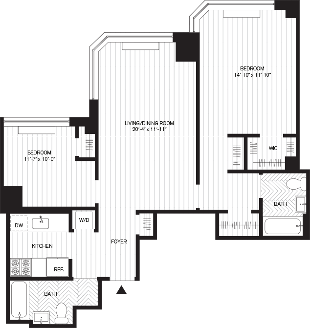 Learn more about Residence G, Floor 7-8 (2br)